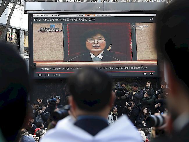 Südkoreas Verfassungsgericht enthebt Präsidentin des Amtes