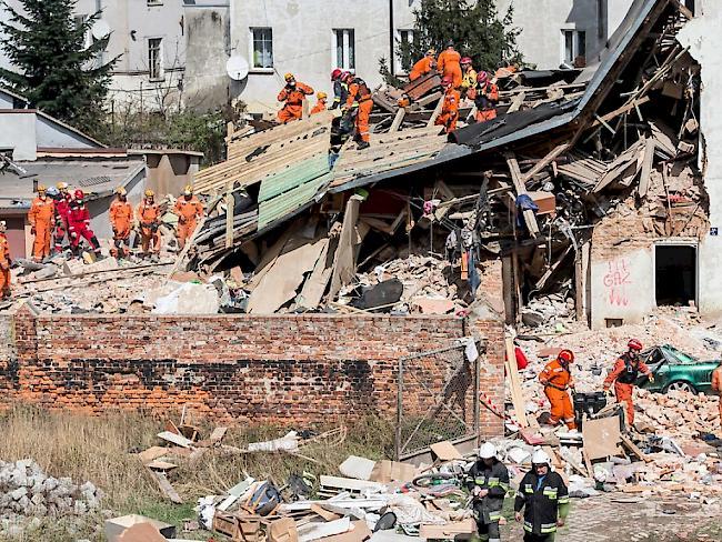 Mindestens fünf Tote bei Hauseinsturz in Polen