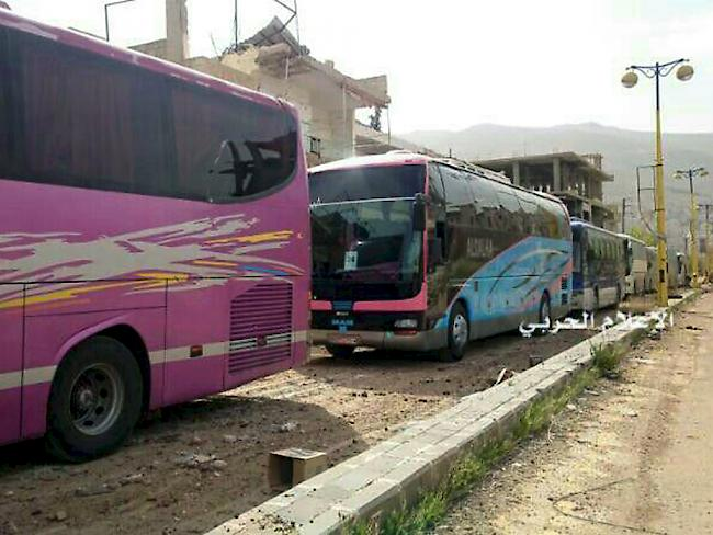 Evakuierung von syrischen Städten begonnen