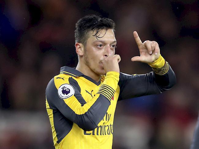 Özil führt Arsenal zu Premier-League-Sieg über Middlesbrough