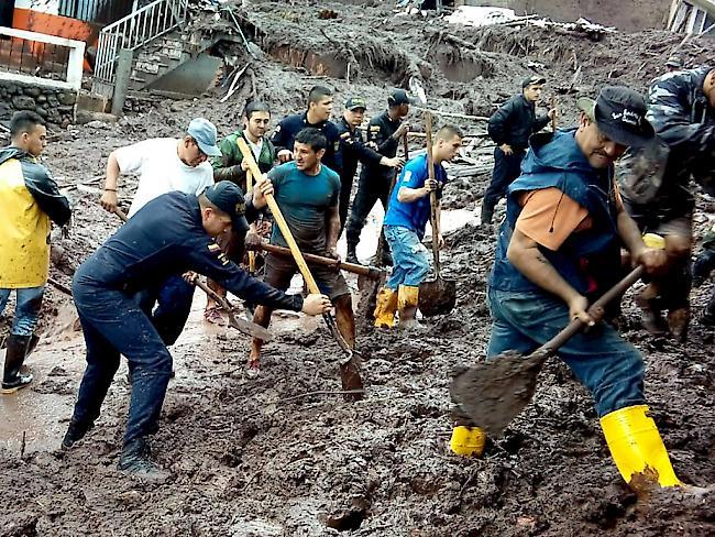Mindestens elf Tote durch Schlammlawinen in Kolumbien