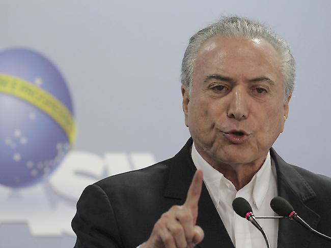 Ermittlung gegen Temer schockt Brasilien