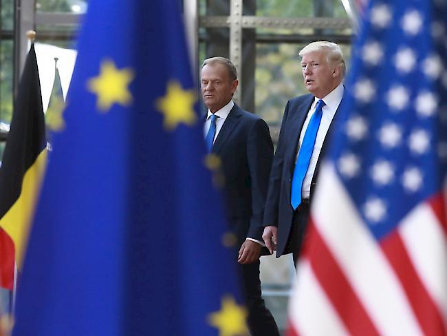 Gespräche zwischen EU-Spitze und US-Präsident Trump beendet