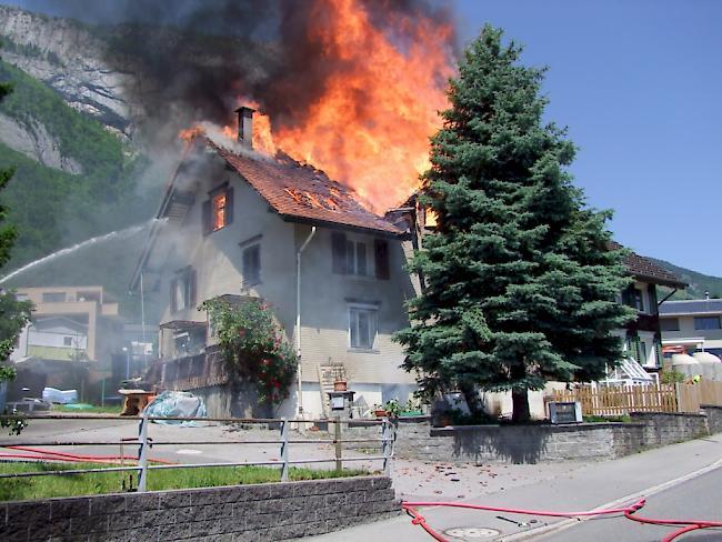 Wohnhaus in Sennwald wird durch Feuer vollständig zerstört