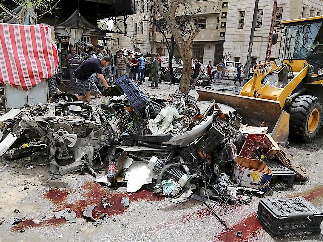 Der belebte Stadtbezirk Karrada in Iraks Hauptstadt Bagdad wird erneut Ziel eines Autobombenanschlags