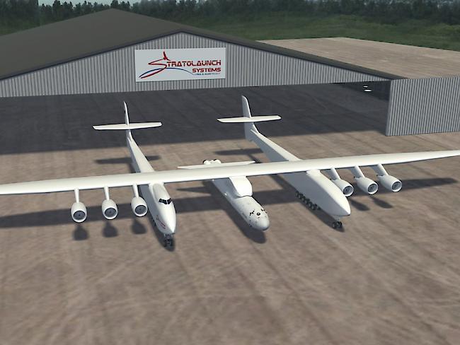 Wissenschaft: Weltgrößtes Flugzeug rollt in Mojave-Wüste erstmals aus seinem Hangar