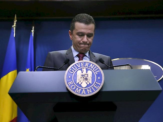 Eigene Partei entzog rumänischem Premier das Vertrauen