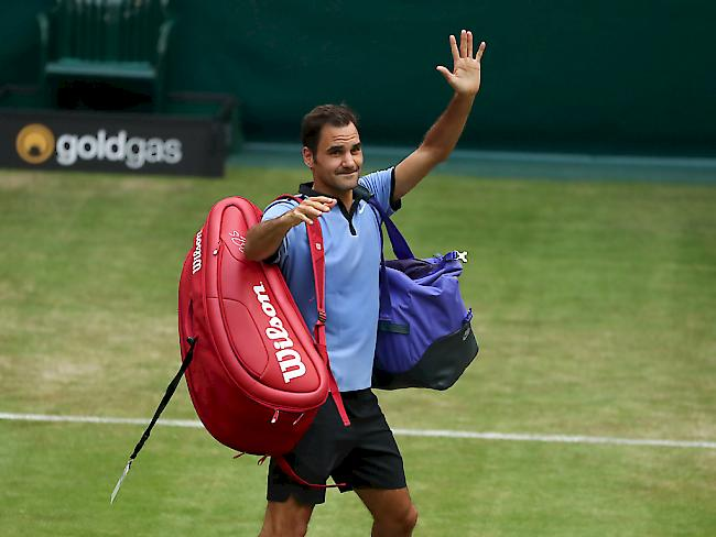 Alexander Zverev im Finale von Halle gegen Federer