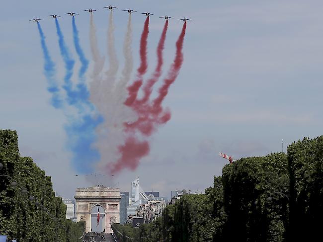 Frankreichs Nationalfeiertag mit Trump