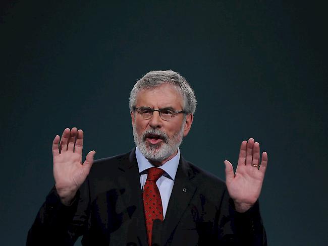 Gerry Adams kündigte Rückzug als Sinn-Fein-Chef für 2018 an