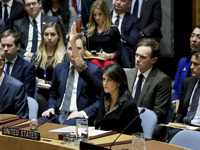 Sicherheitsrat stimmt morgen über USA-kritische Resolution zu Jerusalem ab